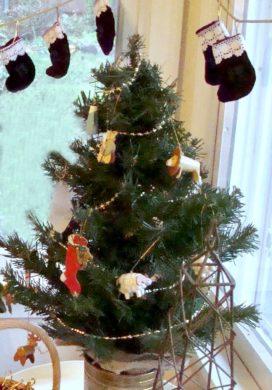 Christmas advent stockings and tree