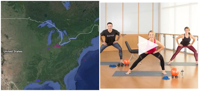 Cool lightning map and barre3 workouts