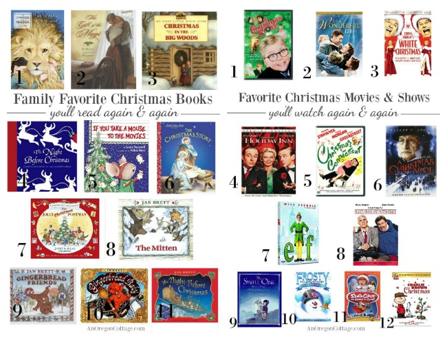 Favorite family Christmas books and movies