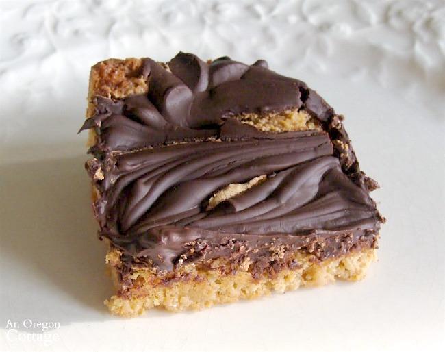 Easy Baking-Peanut Butter Swirl Bars