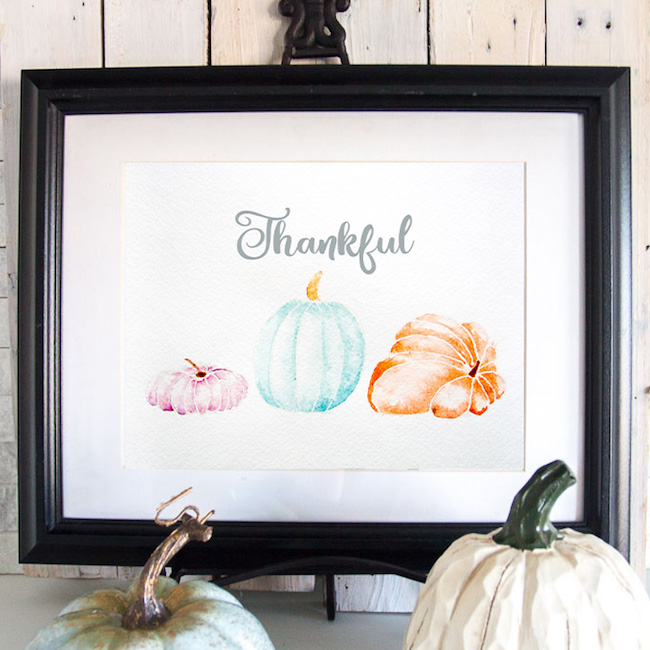 Watercolor-pumpking-fall-printable-art-Thankful