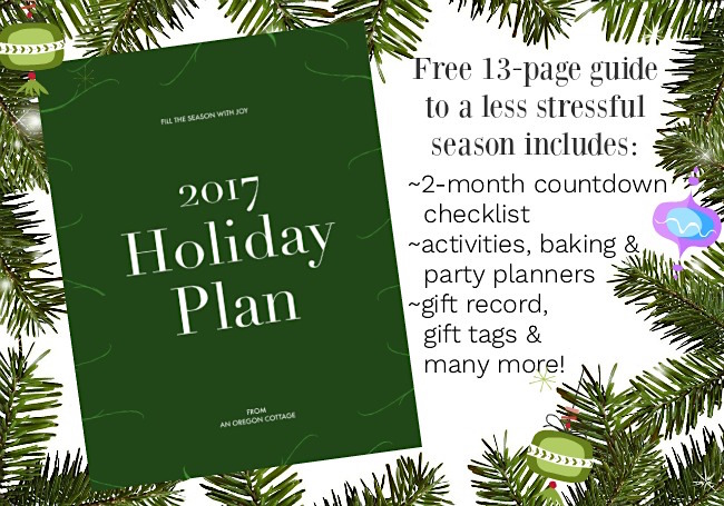 Your 2017 Free Holiday Plan for a less stressful season