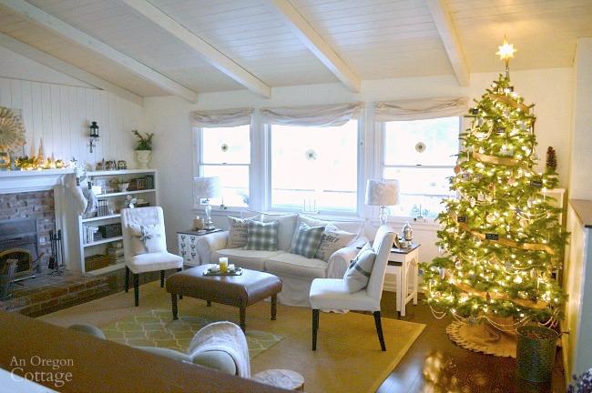 Christmas decor ideas-2015 Christmas tour-tree in living room