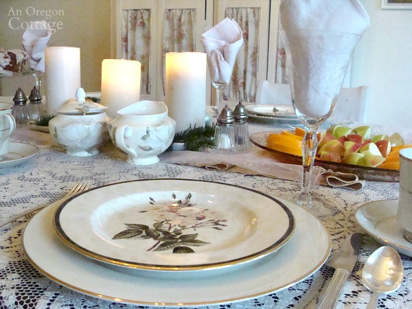 A Simpler Christmas Brunch place setting
