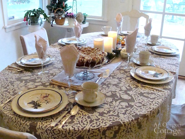 A Simpler Christmas Brunch table