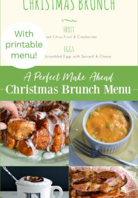 A perfect make ahead Christmas brunch menu with printable menu.