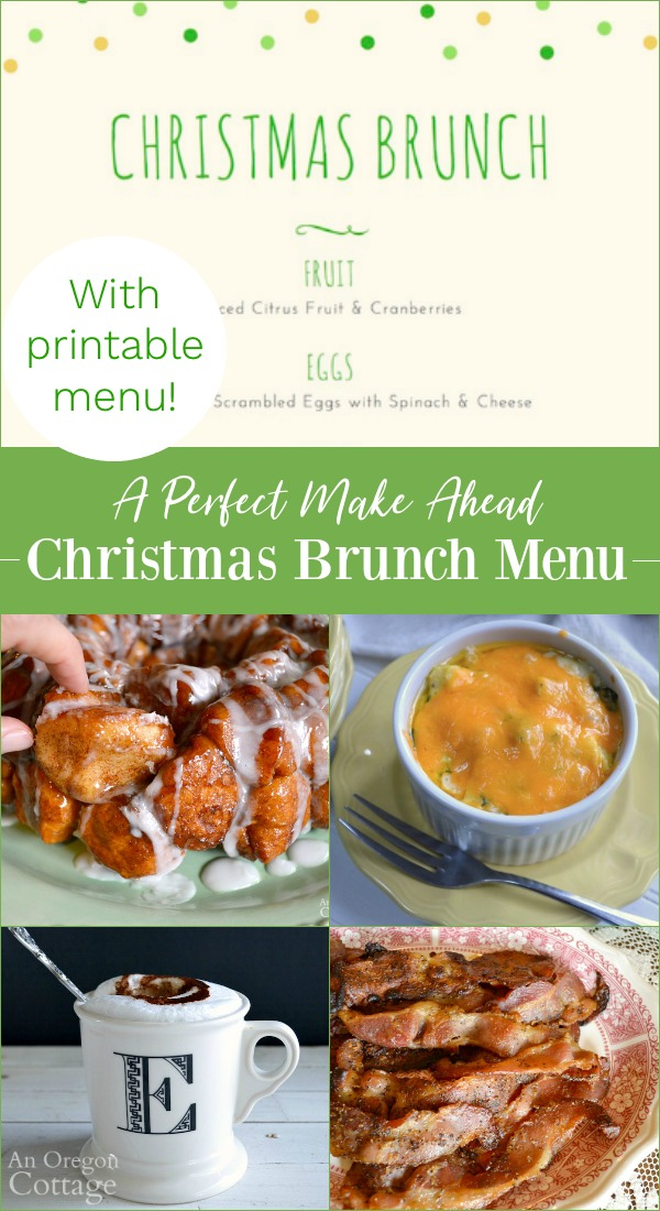 a perfect make ahead christmas brunch menu with printable menu
