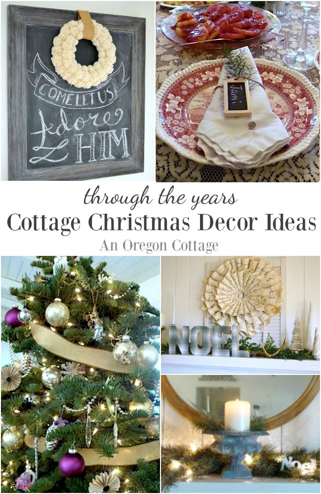 Come tour An Oregon Cottage holidays through the years for Christmas decor ideas and new ways to reuse your favorites from year to year.