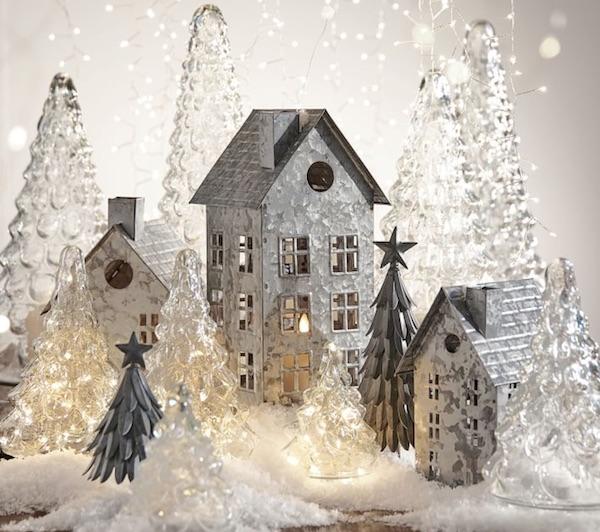 Pottery Barn Galvanized Snowy Christmas