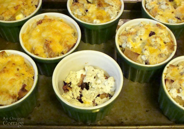 Simpler Christmas Brunch individual egg and cheese casseroles