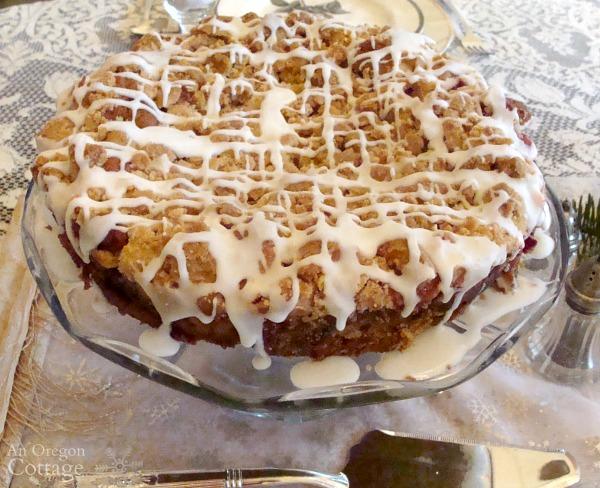 Simpler Christmas Brunch-raspberry crumb cake