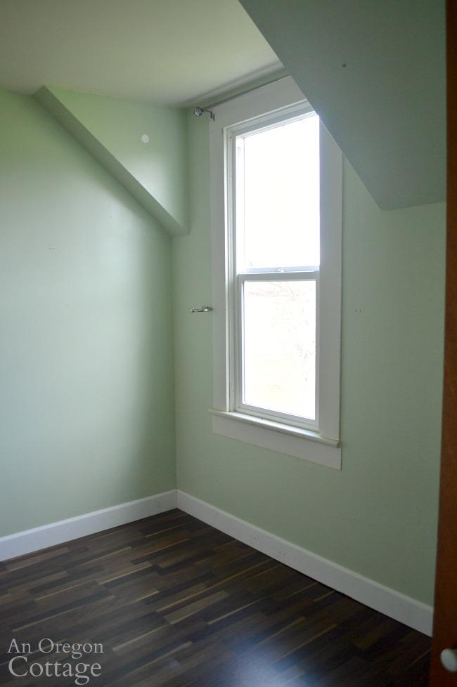 Farmhouse Fixer dormer bedroom