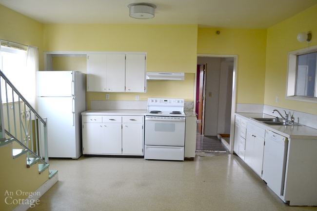 Farmhouse Fixer kitchen from living room