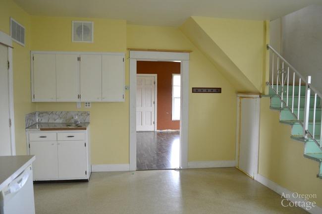 Farmhouse Fixer kitchen to living
