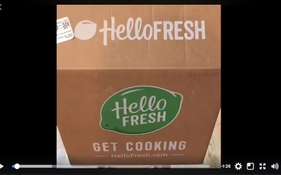 Hello Fresh Unboxing Video on FB