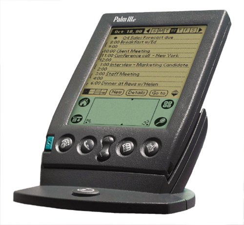 palm pilot on stand