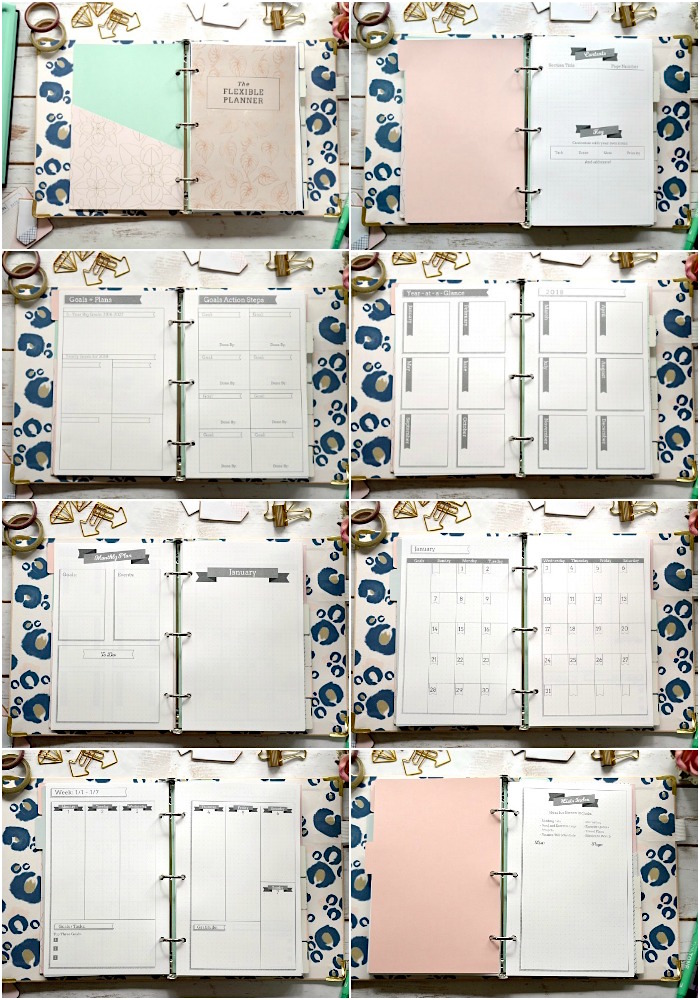 The Flexible Planner 5.5x8.5 pages
