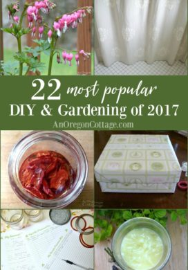 The favorite DIY and gardening projects of 2017 - ten of the most visited projects published in 2017 and eleven from all-time, everything from preserving helps to home decor. #DIY #gardening #homemade