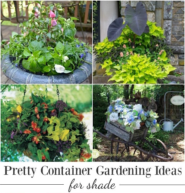 shade-loving flower planters
