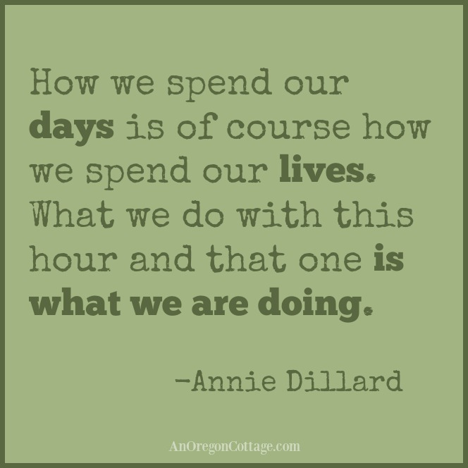 quote by Annie Dillard: How we spend our days is of course how we spend our lives. What we do with this hour and that one is what we are doing.