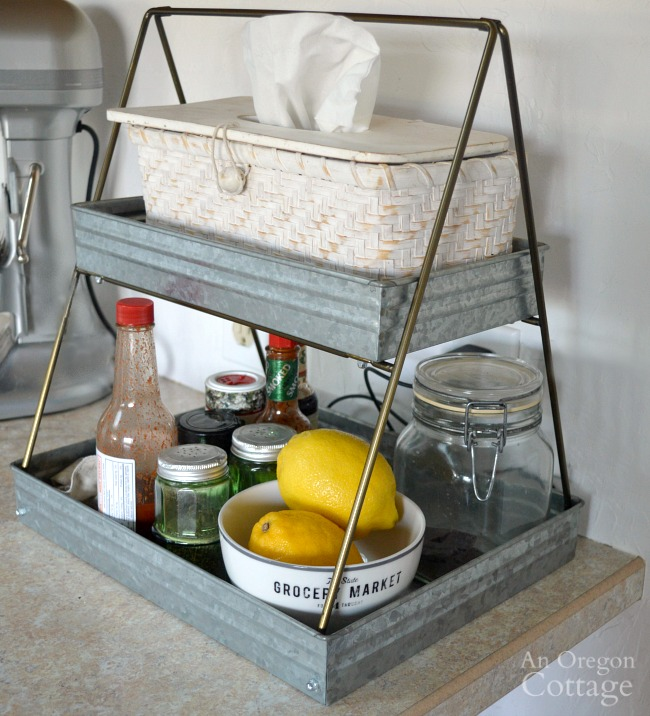 Galvanized tiered tray
