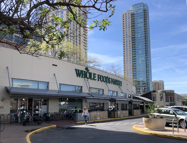 Flagship Whole Foods store in downtown Austin