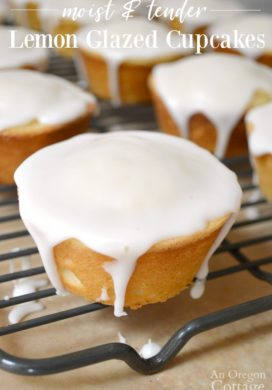 Luscious Lemon Glazed Cupcakes Recipe