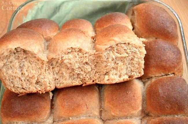 Soft Whole Wheat Rolls inside in pan
