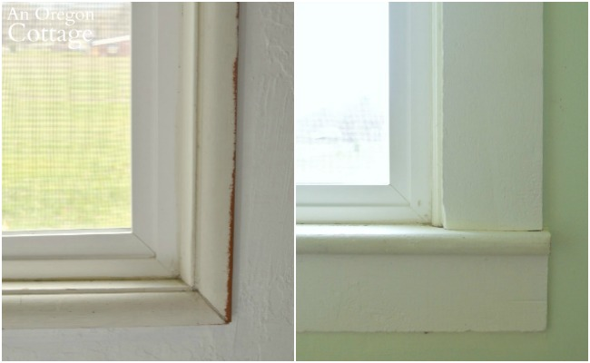 Farmhouse window trim DIY-molding comparison