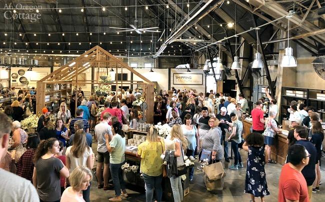 Crowds at Magnolia market