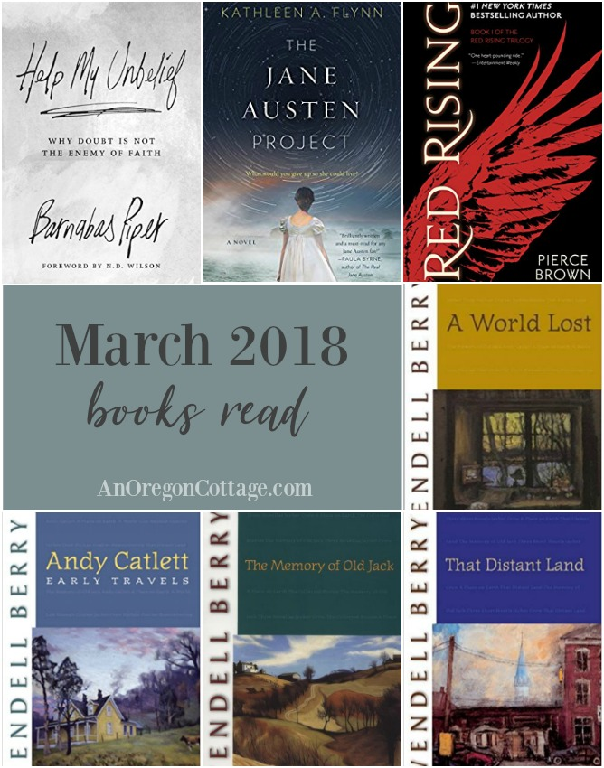 7 books read in March 2018