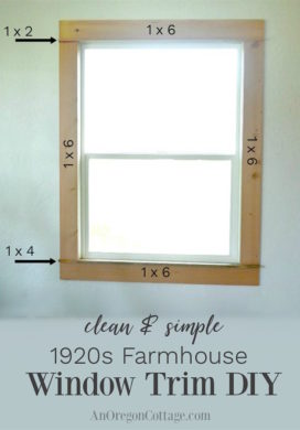 Clean & Simple 1920s Farmhouse Window Trim DIY