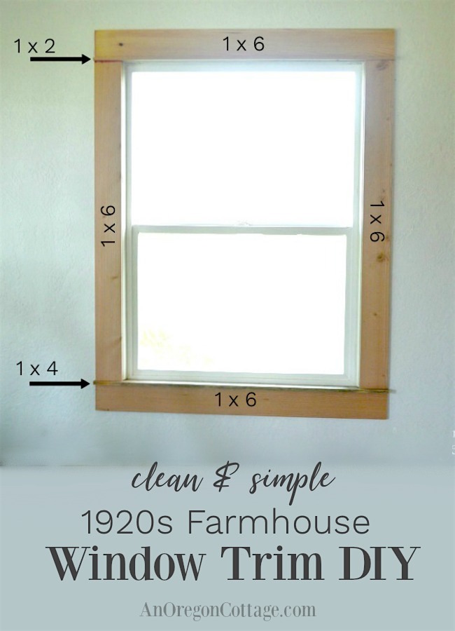 Clean Amp Simple 1920s Farmhouse Window Trim Diy An Oregon