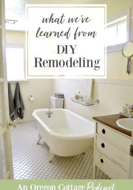Remodeled bathroom with clawfoot tub.