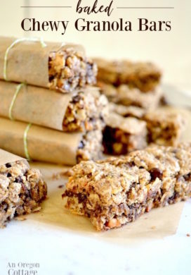 Wrapped baked chewy granola bars