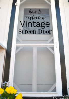 How to Restore a Vintage Screen Door