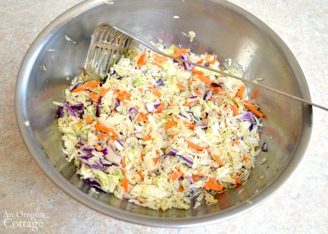 mild sauerkraut after 30 minutes