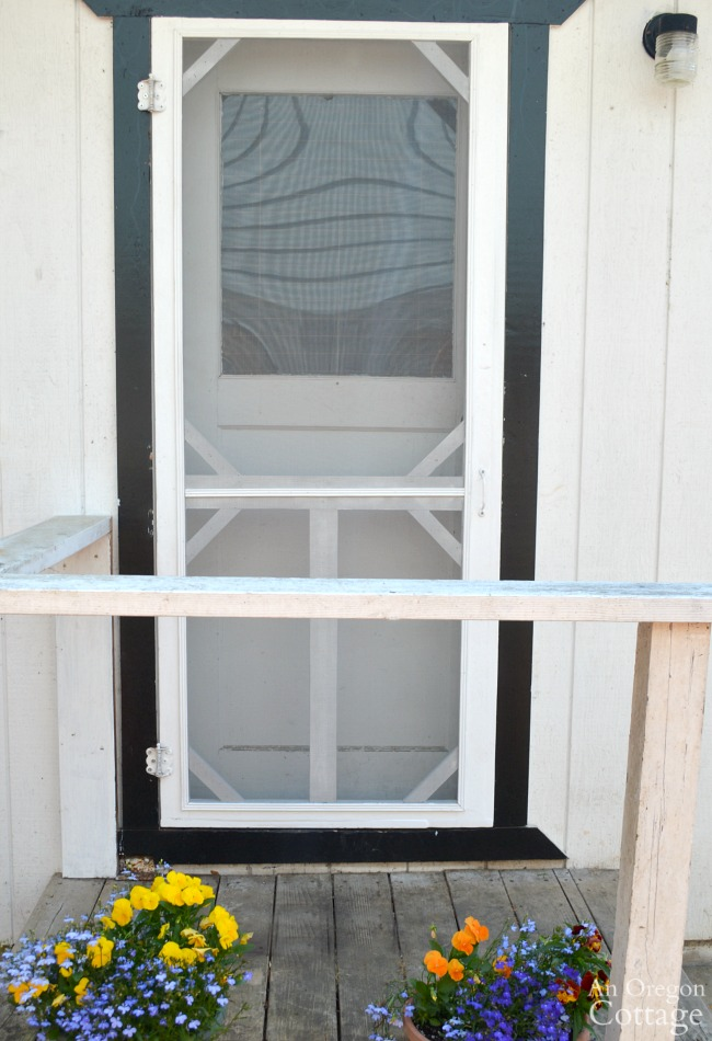Restored Vintage screen door from porch