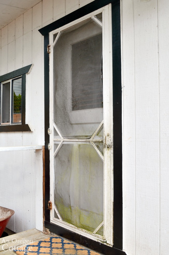 vintage screen door before