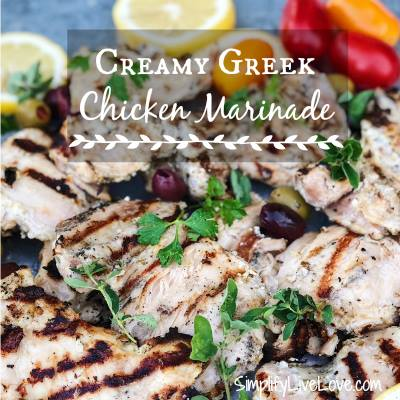 Creamy Greek Herb Chicken Marinade