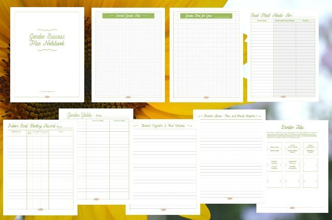 Garden Success Plan Notebook pages