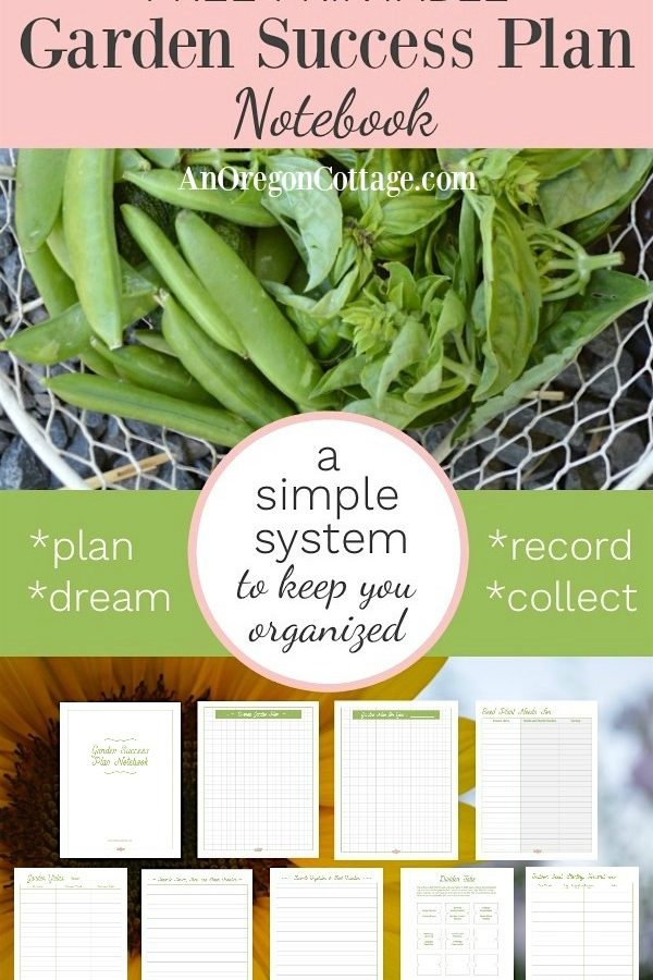 Garden success plan notebook
