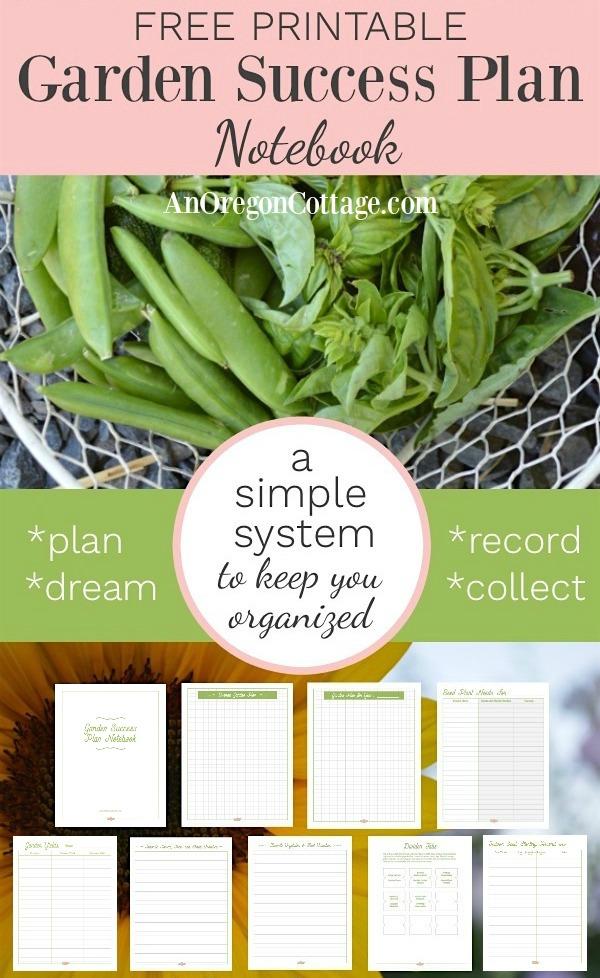 Garden success plan notebook