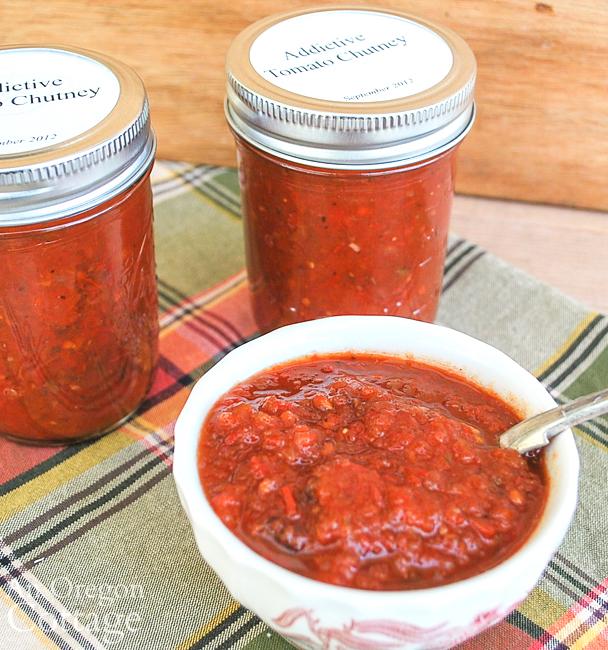 Tomato Chutney-jars-bowl