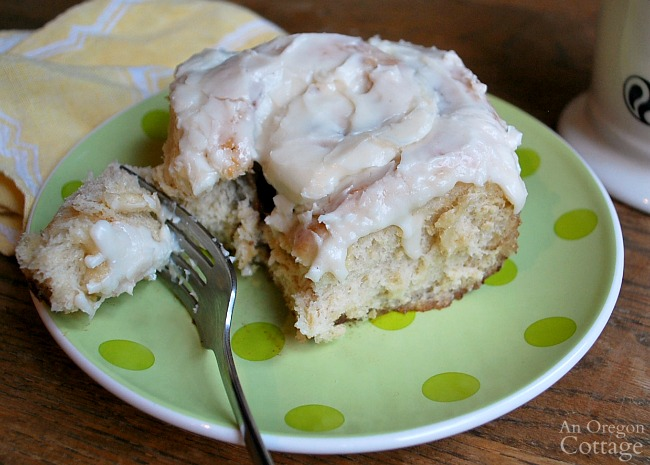 Eating the best cinnamon rolls