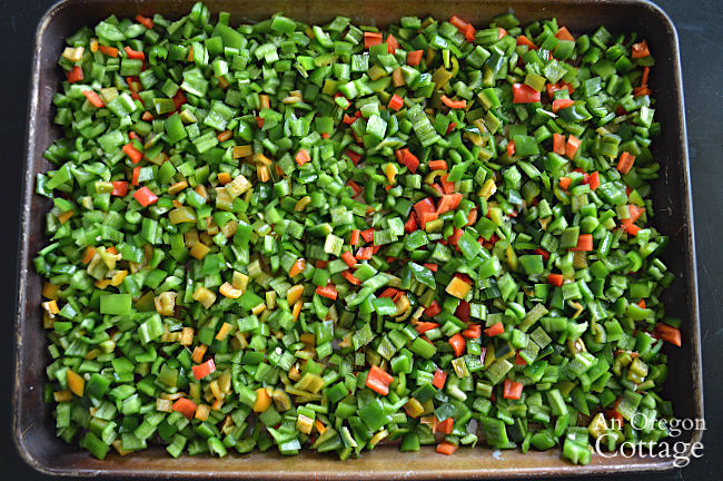 Hot Pepper Guide-Freezing hot peppers on tray
