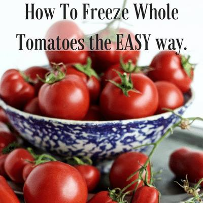 How to Freeze Whole Tomatoes-Homemade Food Junkie
