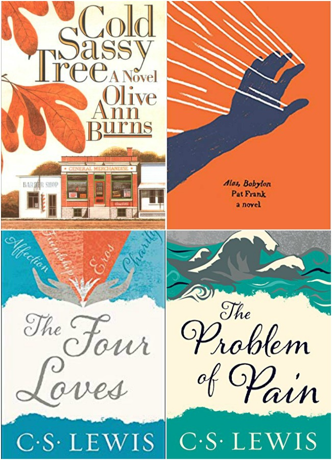 Covers of four books reviewed.