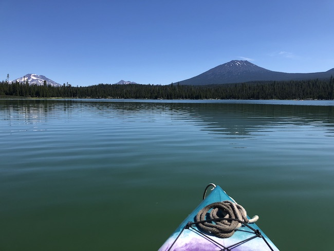 Kayaking Little Lava Lake