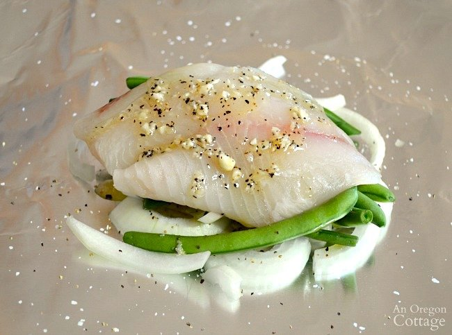 Lemon Vegetable Fish Foil Packets-fish fillet